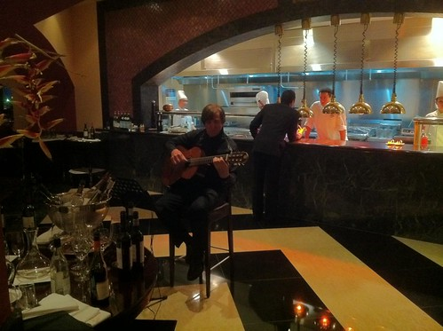 Our guitar player in the restaurant