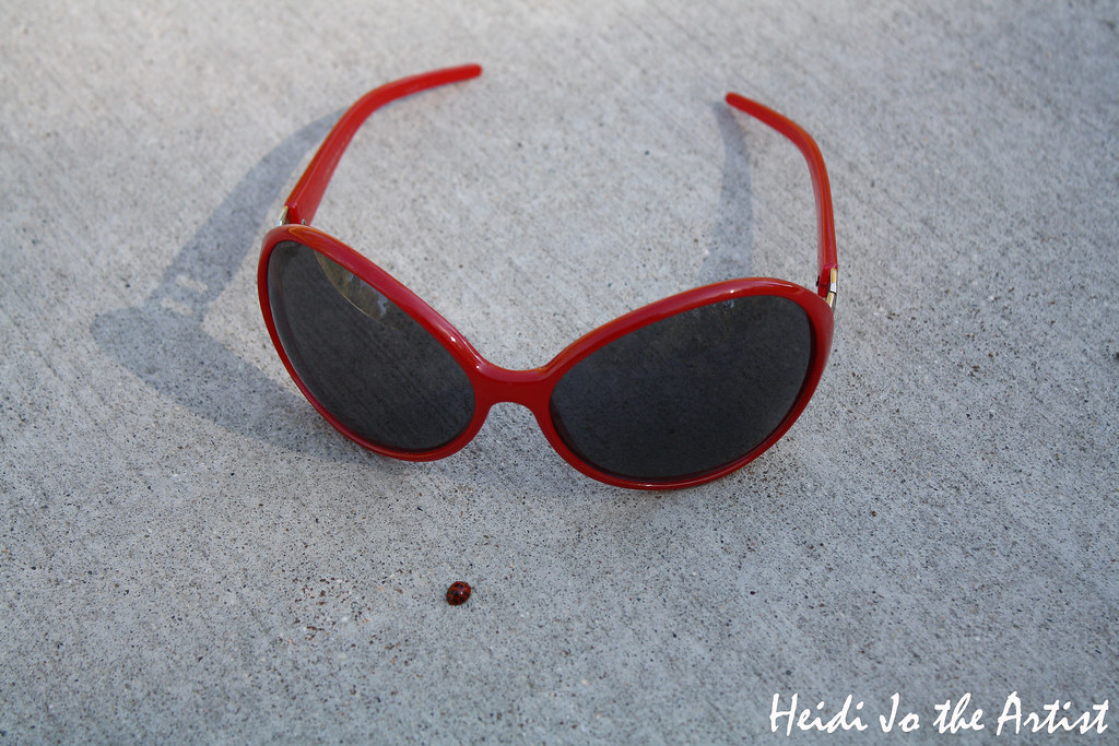 Red Sunglasses and Ladybug