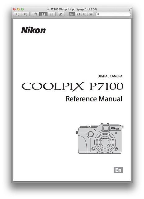 Nikon P7100 Manual