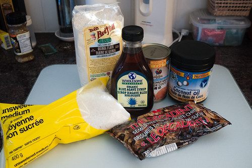 Frozen Choconut Pie ingredients