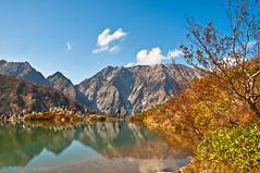 (Aaron Reker) Tags: autumn mountain mountains alps reflection tree fall grass japan pond hike hikers peaks hakuba nagano hdr lightroom japanesealps d90 photomatix happone