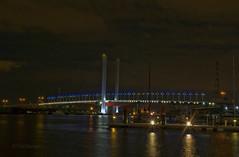 The Bolte Bridge (teelawn) Tags: longexposure bridge reflection water geotagged lights neon nightshot australia melbourne victoria docklands boltebridge wowiekazowie 1755mmf28lens nikond300 tinabarker