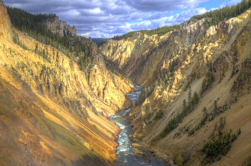 View from Lower Falls, Yellowstone National Park, WY