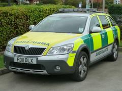 East Midlands Ambulance Service Skoda Octavia Scout FD11 OLX