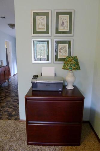 Printer Corner seeing into Hall