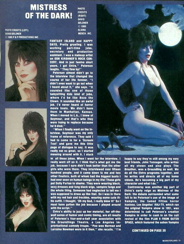 Monster Land #7 Elvira Article Page 4