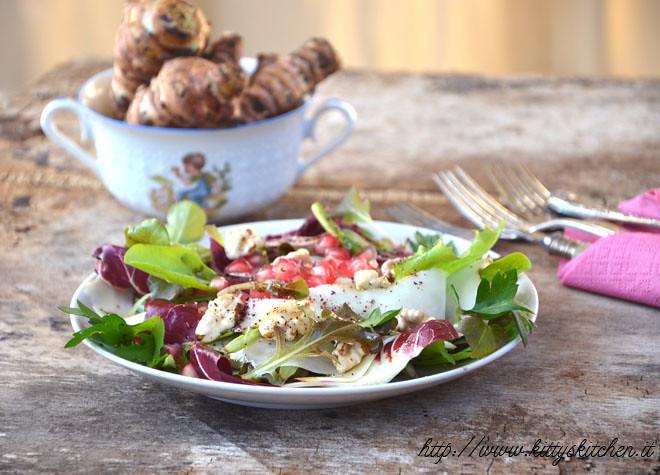 insalata topinambur e melagrana