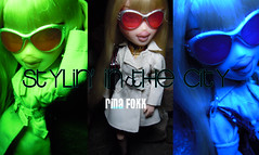 """BNDM C.8 """"Campaign Fever!"""" Rina Foxx (alexbabs1) Tags: city stylin weather fashion stars glasses design clothing twins model media doll all boots head designer top coat ad 8 next line trench pack your purse cycle girlz campaign moxie own rina fever bratz foxx c8 gamez bndm"""