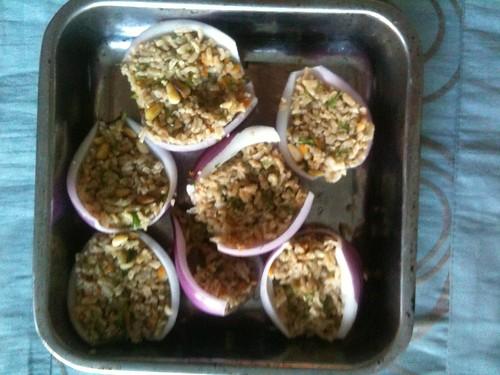 Stuffing Onions