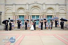 Matt + Amanda (Corey Ann) Tags: wedding ohio cleveland weddingparty umbrellas oberlin oberlincollege