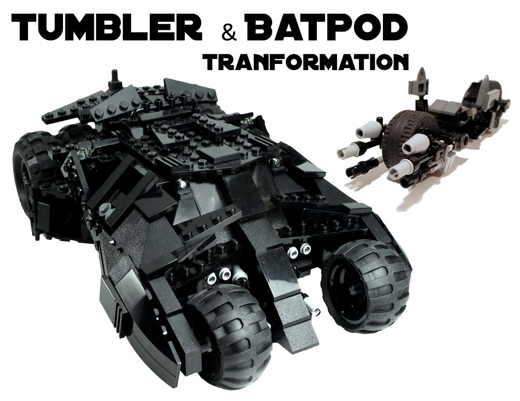 Lego Batman Tumbler With Batpod Transformation 7888 A Lego