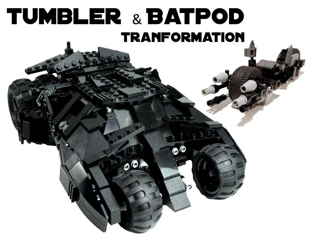 Lego Batman Tumbler with Batpod transformation!! 7888: A ...