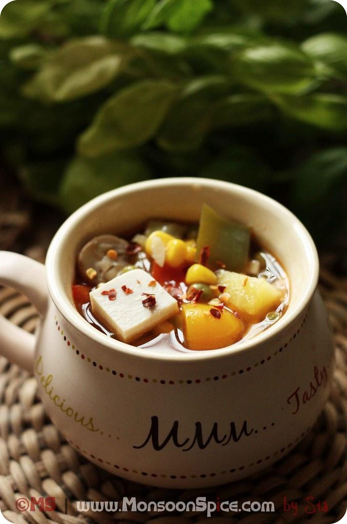 Hot Sour Veg Soup