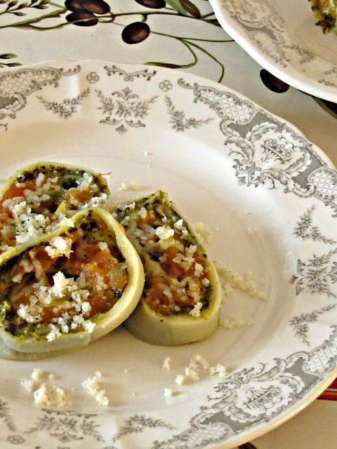 Rotolo di Broccoli e Zucca al Tartufo
