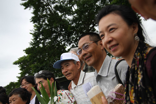 來自不丹的高級研究員多傑(右2)說,不丹以追求幸福快樂為目標。(攝影:吳信緯)