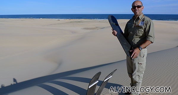 Time for sandboarding!