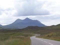 Mountain Splendour, A 835, Ledmore Junction (allanmaciver) Tags: travel mountain car cloudy dry junction remote lonely splendour a835 ledmore allanmaciver