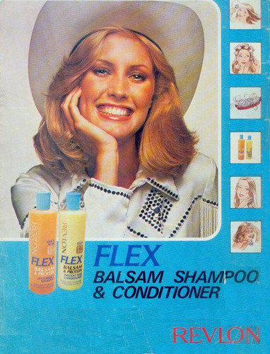 1980 1981 Fashion model Kim Acee,  Flex Shampoo Ad model