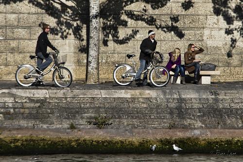Seine bank bikes