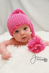 Newborn Baby Pink Elf Hat (Boston Avenue Babies) Tags: pink baby hat newborn babyhat photographyprop elfhat newbornhat photoprop bostonavenuebabies