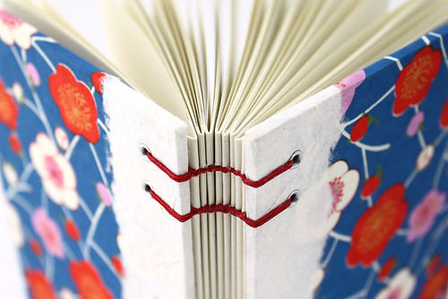 Hand-stitched Plum Blossom Journal