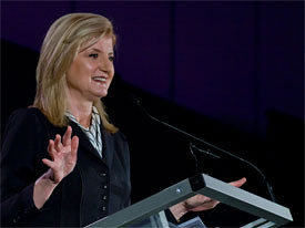 Screenshot of Arianna Huffington