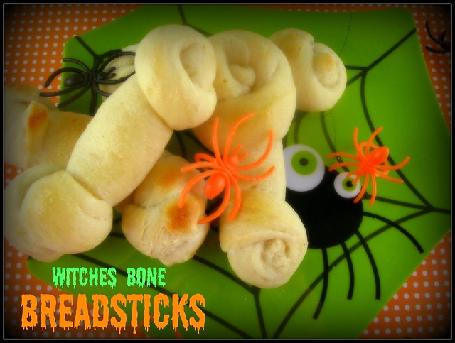 Witches Bone Breadsticks