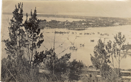 Boat race on the Swan River, Western Australia. 1923.