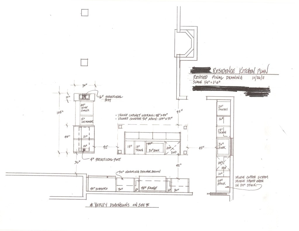kitchen floor plan oct 2011
