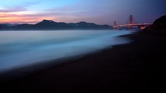 Baker beach bluey sunset and the Golden Gate