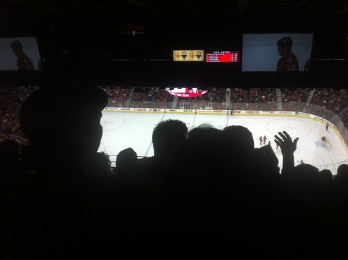 Press level seating saddledome