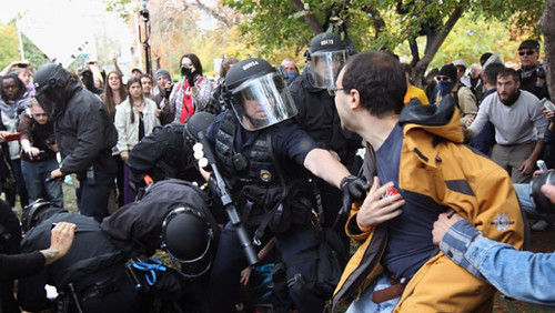 Denver police break up the Occupy encampment on Saturday, October 29, 2011. A wave of repression has been launched against Occupy Wall Street demonstrations across the United States.  by Pan-African News Wire File Photos