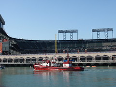 SFFD Fireboat in McCovey Cove (Eric Broder Van Dyke) Tags: sf sanfrancisco fall sffd fireboat 2010 mccoveycove