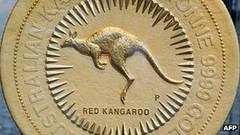 World's Largest Gold Coin red Kangaroo