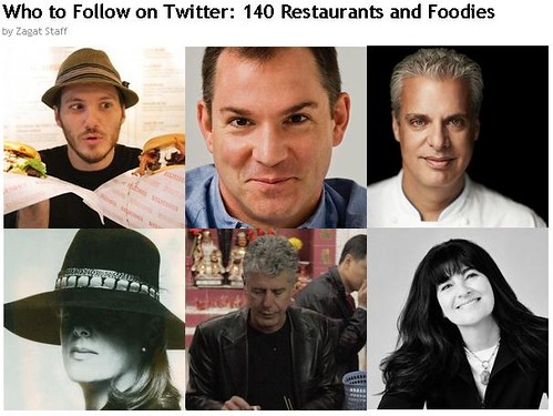 Zagat - Who to Follow on Twitter - 140 Restaurants and Foodies