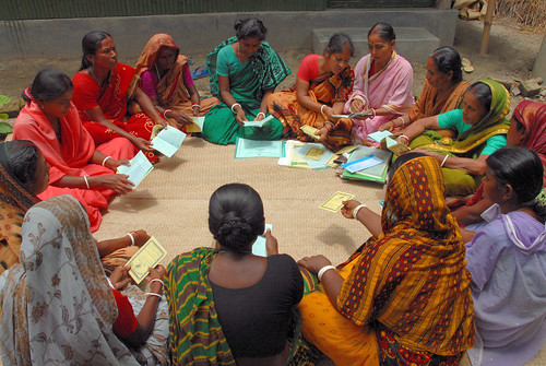 Women attend a meeting, Bangladesh. Photo by WorldFish, 2006