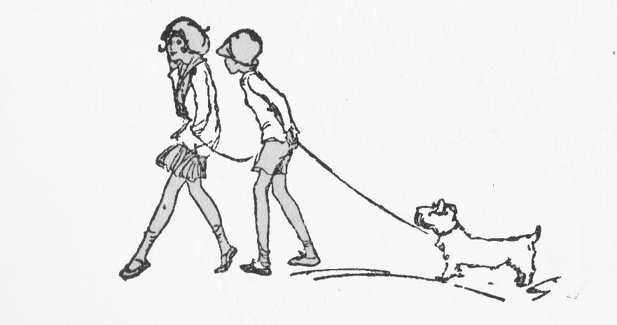 decoration walking the dog