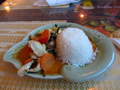 Thai Boat - Rice & Red Curried Chicken