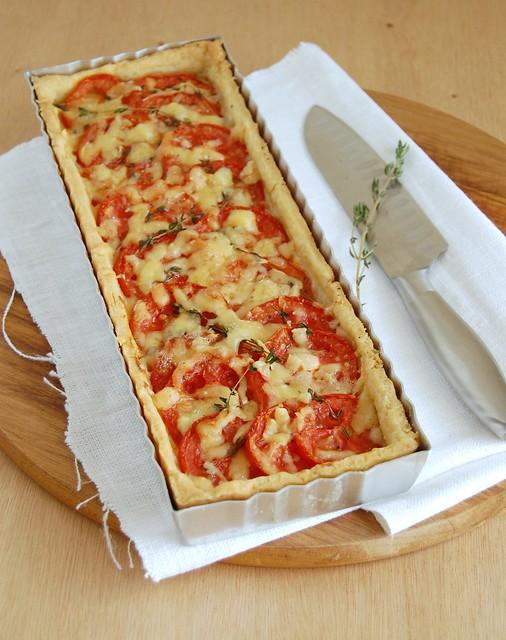 Tomato tart / Torta de tomate