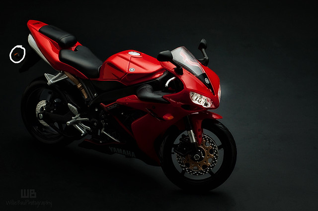 Red Yamaha R-1.