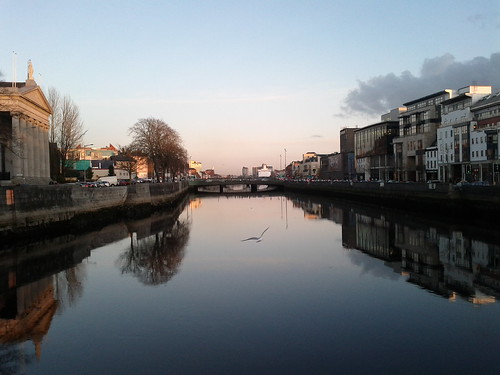 Evening view looking east in Cork City. by despod