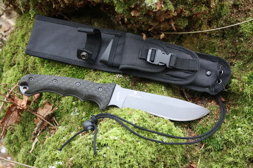 "Schrade Extreme Survival Large Fixed 6.4"" Carbon Steel Blade, Nylon Sheath"