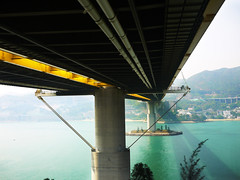 under the bridge (Fion N.) Tags: life china city urban hongkong living asia cityscape    tsingmabridge gf1  panasoniclumixgf1