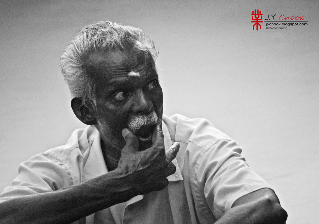 Old Indian man at Batu Caves