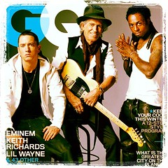 Lil Wayne, Eminem, and Keith Richards on The Cover of GQ as Seen on GlobalGoodGroup.com
