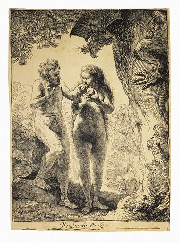 Rembrandt - Adam and Eve [1638] by Gandalf's Gallery