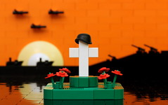 Lest We Forget (True Dimensions) Tags: memorial war day cross lego helmet poppy remembrance veteran
