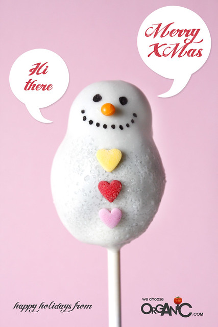 Cute and Lovely Christmas Snowman Oreo Cake Pops - happy holidays