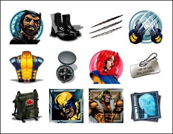 free Wolverine slot game symbols
