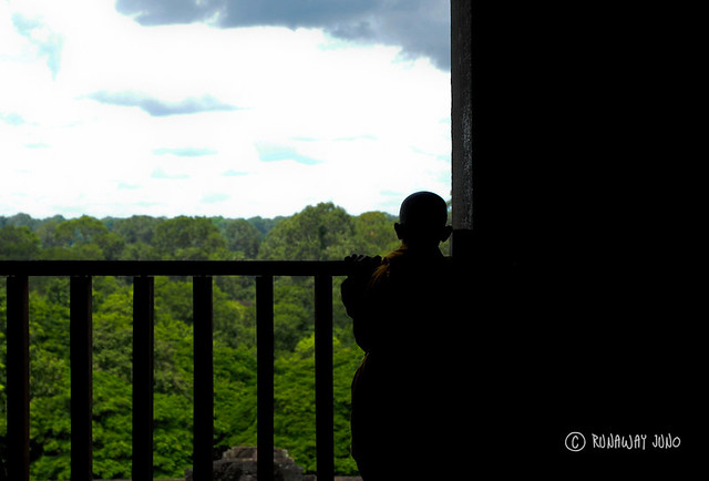 Travel Photo Roulette: A boy monk at Angkor Wat. Copyright by RunawayJuno.com